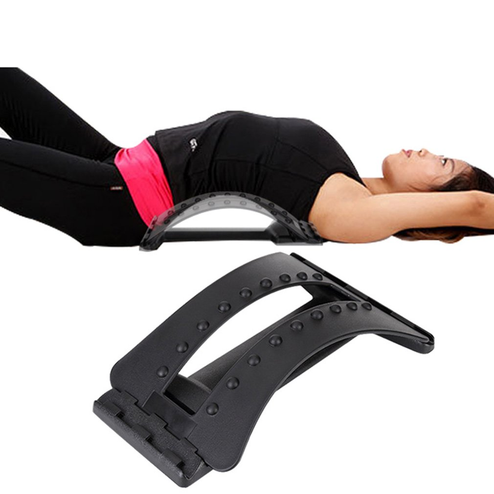 Back Massage Stretcher Fitness Massage Equipment Stretch Relax Stretcher Lumbar Support Spine Pain Relief Chiropractic