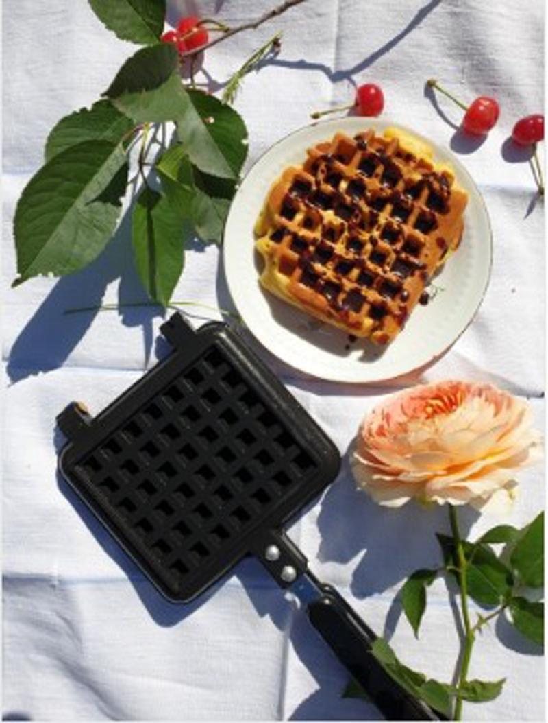 Non Stick Waffles Maker Machine Kitchen Waffle Baking Mold Gas Pan Bubble Egg Cake Oven Breakfast Machine Cake Maker
