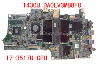 HOLYTIME laptop Motherboard for Lenovo thinkpad T430U DA0LV3MB8F0 04Y1049 I7-3517 CPU non-integrated  graphics card