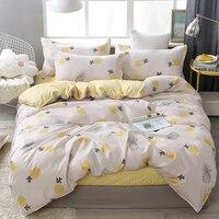 Set copriletto stampa frutta ananas Kid Boy Girl copripiumino adulto bambino lenzuola e federe Set biancheria da letto trapunta 61066