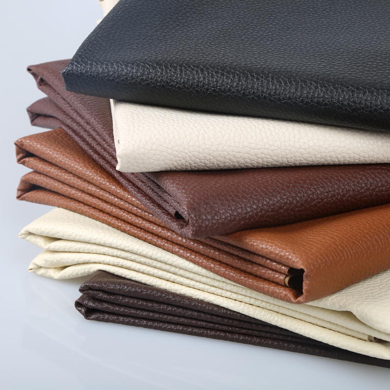 100x140cm Big Lychee Pu Leather Faux Embossed Leather, Fabric For Sewing, artificial synthetic leather