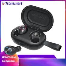 Les écouteurs sans fil de TWS de battement de Tronsmart Spunky dauriculares avec QualcommChip,APTX, écouteurs profonds de Bluetooth de basse