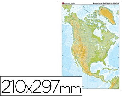 MAP MUTE COLOR DIN A4 AMERICA NORTH PHYSICAL FITNESS 100 Units