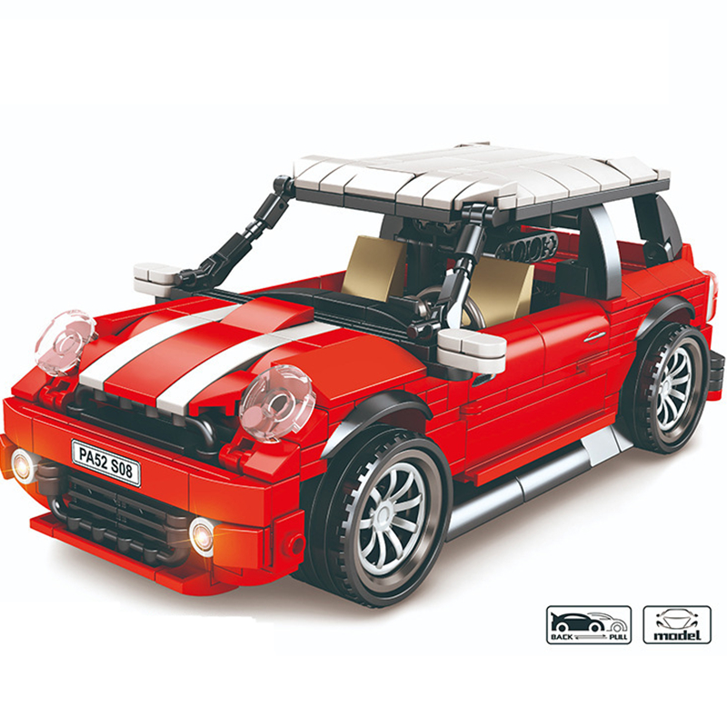 2020 Technic Creator Expert Pull Back Classic MINI Cooper Beetle Car Building Blocks Sets Bricks Model For Children Compatible