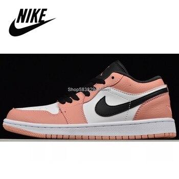 Фото - Original Nike Air Jordan 1 Travis Scott Low Retro Mid Pink OG Low Aj1 Men Basketball Shoes Outdoor Sport Sneakers #AJL88 кроссовки air jordan 11 retro low