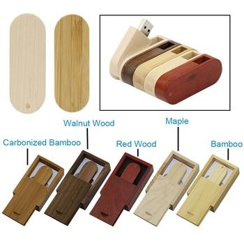 USB 2.0 Customize LOGO Wooden Usb Flash Drive Personal LOGO Pendrive 16GB 32GB Usb Flash Drive U Disk Memory Stick Wedding Gift