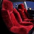 Шерстяное покрытие для автомобильных сидений  зимняя теплая подушка для автомобильных сидений из натурального меха австралийской овчины  ...