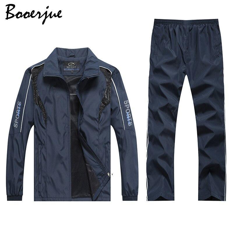 Plus Size M-5XL Men's Sportswear Sets 2 Piece Set Sporting Suit Jacket+Pant Male Fashion Tracksuit Men Outfit Tracksuit Women