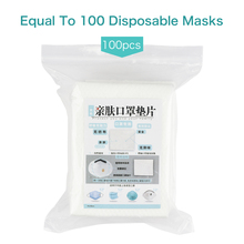100Pcs/Bag 3layers Disposable Facial Mask Filter Pad Non-Woven Haze Mask Replacement Universal Protective Replaceable N95 Mask