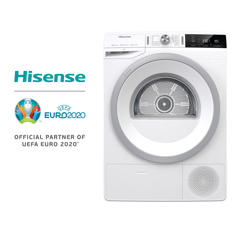 hisense-dhga90-secadora-bomba-de-calor-9kg-capacidad-de-carga-120l-volumen-de-tambor-boton-tactil-inicio-diferido