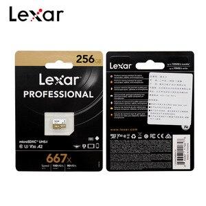 Image 4 - بطاقة ذاكرة ليكسر احترافية TF 667x256GB SDXC V30 A2 U3 فئة 10 ماكس 100 برميل/الثانية بطاقة ميكرو SD مع محول