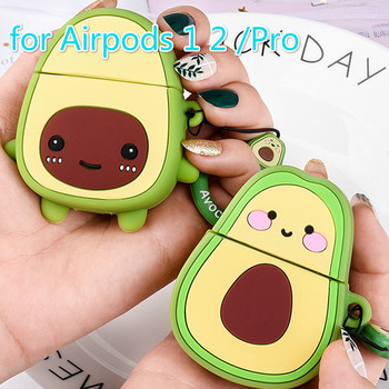 cute case for apple airpods case pink cartoon bluetooth earphone case for airpods 1 2 charging bags headphone soft case hooks Case for Apple AirPods 2 Charging Box Cover for Airpods with Hooks Soft Cartoon Avocado Strawberry Earphone Case for AirPods Pro