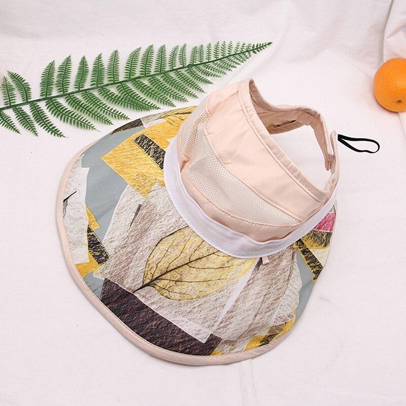 Spring Summer Sun Hat Cap Sun Protection Cap Stripe Adjustable Empty Top Women's Hats Elegant Ladies Simplicity Large Brimmed