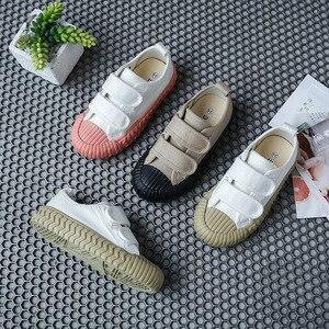 Image 3 - 春の秋の子供スニーカーキャンバスシューズ子供のスポーツの靴女の子少年靴