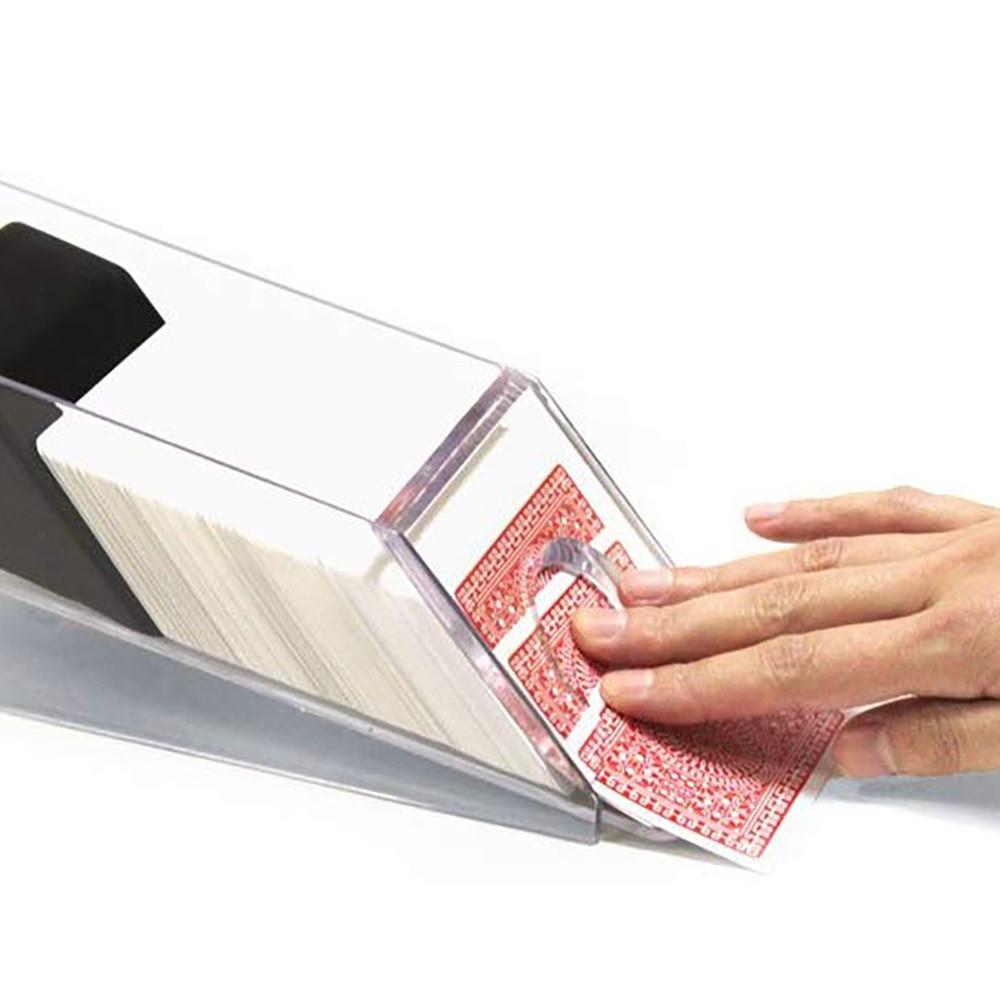Acrylic Poker Card Dealing Shoe Professional Dealer for Home Blackjack Games