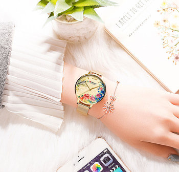 Top Brand Fashion Luxury Rose Gold Blue WristWatch Casual Fashion Women Watches Quartz Clock Gift Watch Woman Montre Femme 2