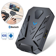 Plug and play bluetooth pubg controlador gamepad teclado móvel mouse conversor adaptador para ios android smartphone para jogos cf(China)