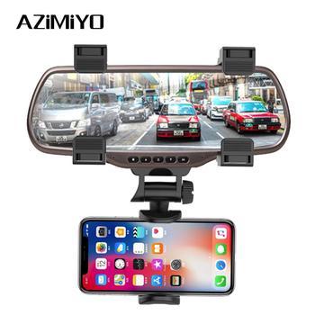 AZiMiYO Universale Supporto Del Telefono Dell'automobile di Rearview Mirror Mount Phone Holder 360 Gradi Per Il GPS Del Telefono Mobile Del Supporto Del Basamento AZiMiYO OnLine Store