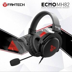 FANTECH MH82 3.5MM prise casque de jeu filaire PC stéréo écouteurs casque avec Microphone pour Profession Gamer FPS jeu
