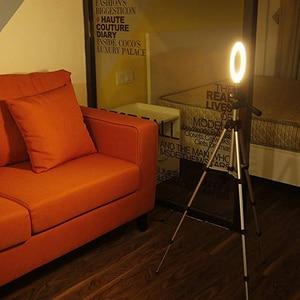 Image 2 - Suporte ajustável de led para câmera, suporte ajustável de 5.7 polegadas com anel luminoso para telefone de 35 100cm para filmagem de vídeo