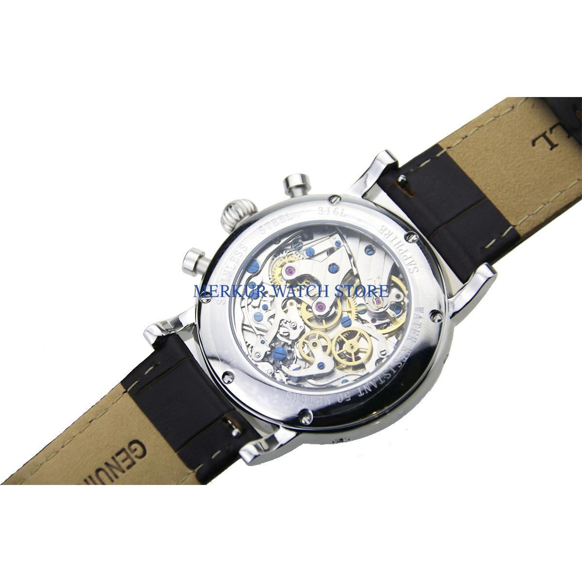 Geen logo Herenhorloge Mechanische Chronograaf Pilot 1963 Jurk Horloge Jurk Meeuw Beweging St1908 - 4