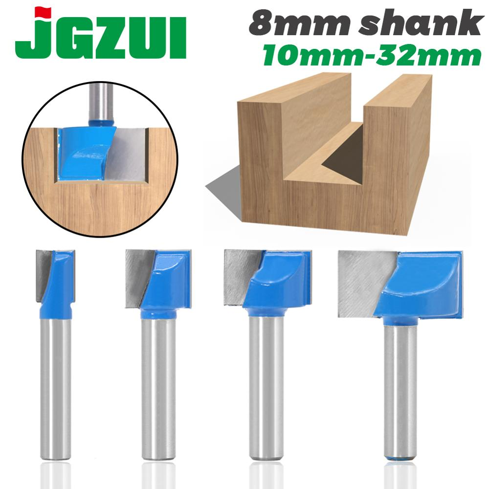 JGZUI 1pc 8mm Cleaning Bottom Engraving Bit Solid Carbide Router Bit Woodworking Tools CNC Milling Cutter Endmill For Wood