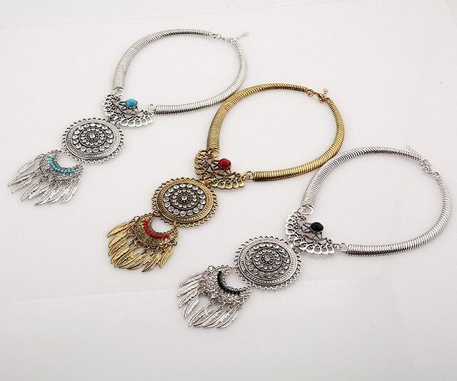Фото lzhlq 2020 модное женское ожерелье винтажные массивные ожерелья