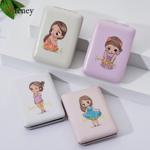 Vicney Girl Portable Mini Cartoon Girl Makeup Mirrors Compact Pocket Floral Mirror Two-Side Folding Make Up Mirror Cosmetic Tool цена 2017