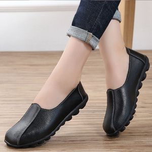 Loafers women genuine leather