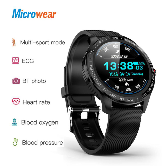 Microwear L9 PPG+ECG Smart Watch Blood Pressure Oxygen Heart Rate Monitoring Fitness Sport Watch IPS Colorful Screen Smart Band