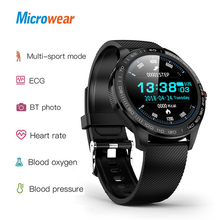 "Microwear L9 PPG + אק""ג חכם שעון לחץ דם חמצן ניטור קצב לב כושר ספורט שעון IPS צבעוני מסך חכם להקה"