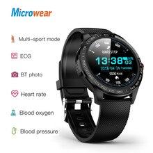Microwear L9 ppg + ecgスマート腕時計血圧酸素心拍数モニターフィットネススポーツウォッチipsカラフルな画面スマートバンド