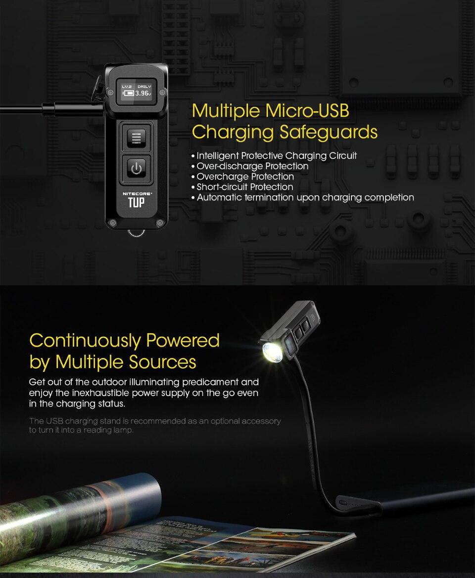 1800 Lm Avec 2x Nitecore P18 Unibody DIE-CAST futuriste Tactique lampe de poche