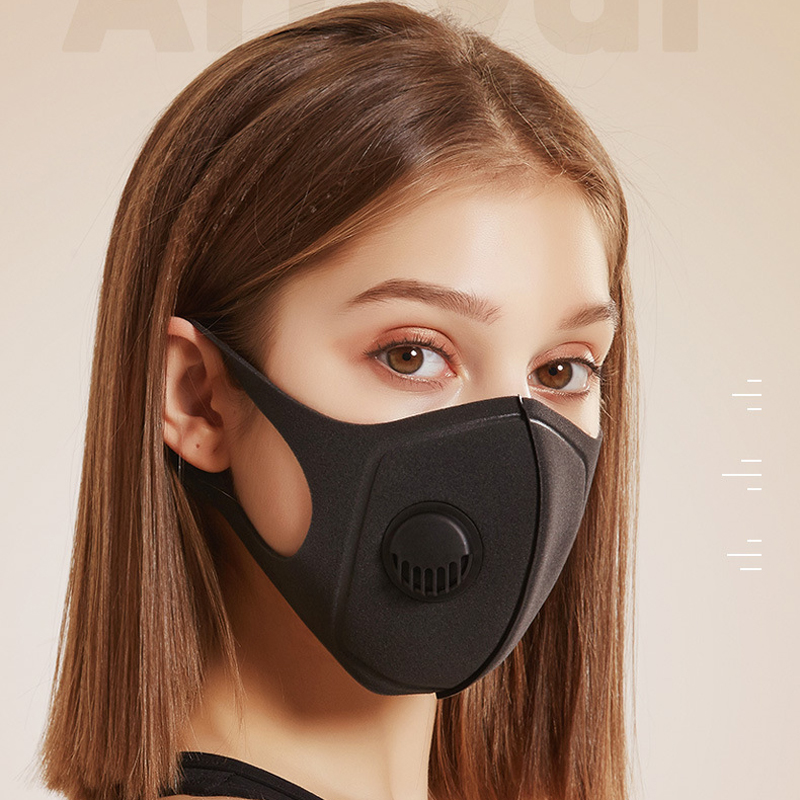 YELITE Anti-Dust Anti Pollution Face Mouth Masks Mask Ffp3 With Breath Valve Breathable Cotton Masks  Unisex Mouth Muffle Hot
