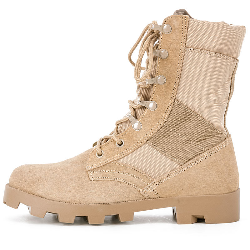 New Style Hight-top Sandy Color Combat Boots Men's Large Size Combat Boots Waterproof Delta Desert Boots