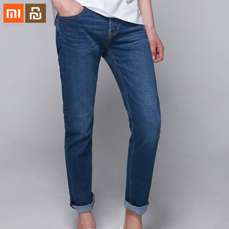 Original Xiaomi Cottonsmith 2019 New Classic Men's Vitality Straight Pants Jeans Simple Skin-friendly Material