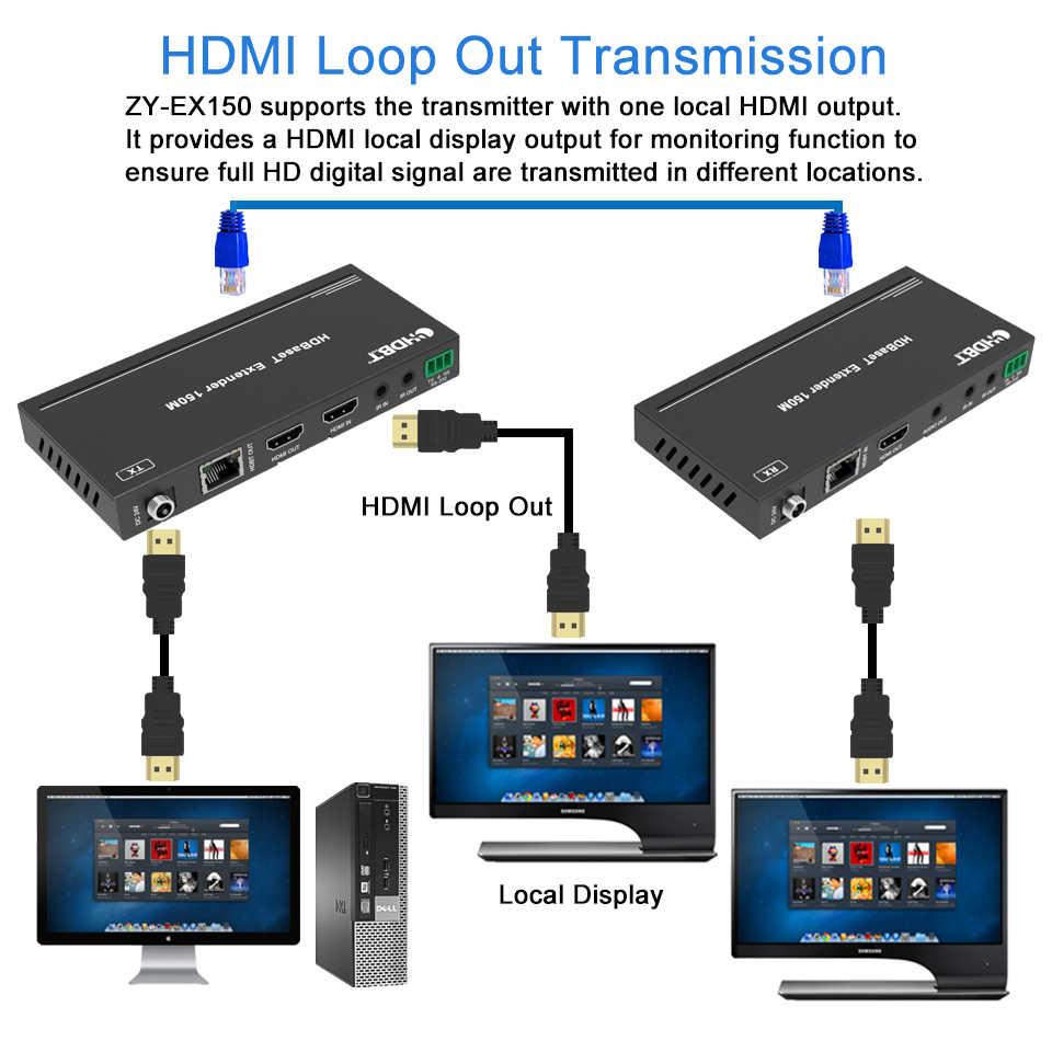 2020 melhor 4 k 60 hz hdmi hdbaset extensor com ir 120m 4 k hdmi poe extensor sobre rj45 cat5e/6 cabo suporte hdmi 2.0 & hdcp 2.2