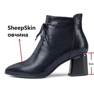 Image 3 - FEDONAS Big Size Women Shoes Genuine Leather Women Ankle Boots Warm Autumn Winter Short Boots New Side Zipper Casual Shoes Woman
