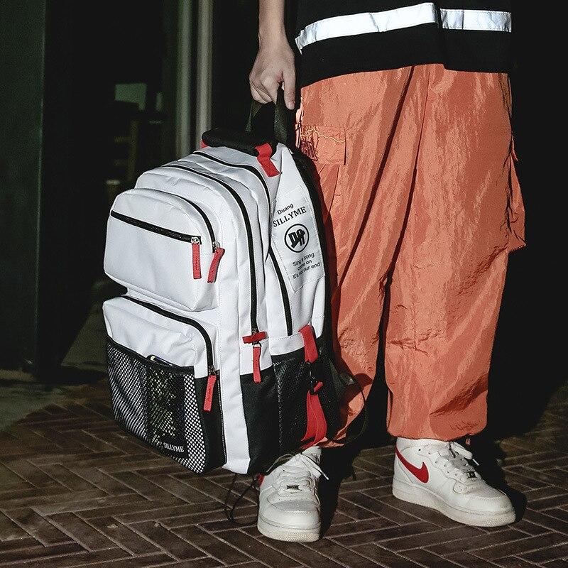 Large Men Backpack Women School Bag High College Student Korean Multifunction Travel Back Pack 2019 New