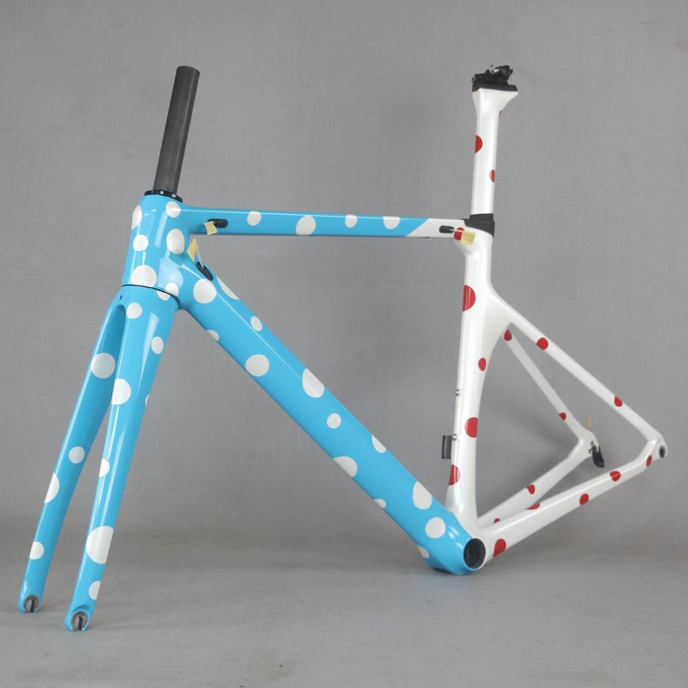 DOT Painting Carbon Racing Frame  Carbon Road Frame Bicycle New Design Carbon Road Bike Frame TT-X1