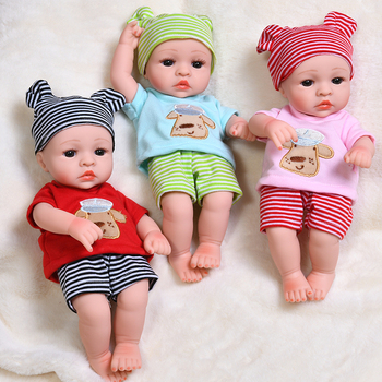 30cm Lovely Baby Dolls Reborn Full Soft Silicone Realistic Reborn Baby Body Lifelike Alive Babies Toys For Girls Kids Gift Dolls 48cm reborn baby doll toddler girl pink princess soft full body silicone babies dolls lifelike realistic bonecas toys for kids