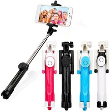 3 in 1 Extendable Monopod Tripod Wireless Bluetooth Remote Shutter Selfie Stick For Iphone Huawei Samsung Xiaomi