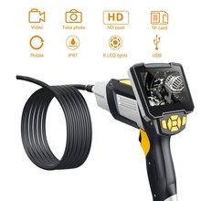 Industrial Endoscope 4.3 inch LCD Borescope Videoscope  with CMOS Sensor Handheld Endoscope Semi-Rigid Inspection Camera 6 LED