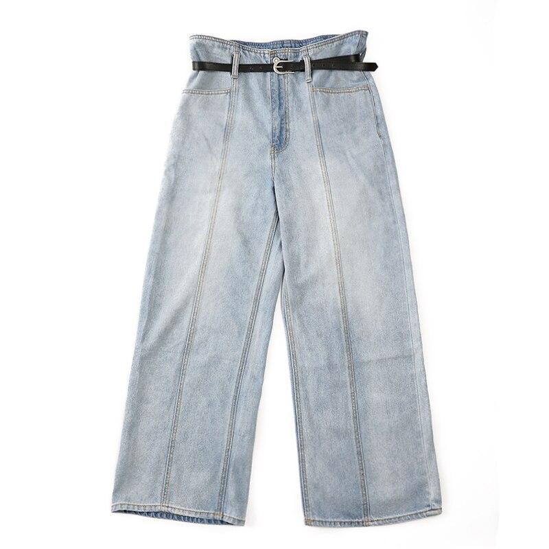 Хлопковые джинсы с дырками 2019, осенняя и зимняя модная повседневная одежда больших размеров для женщин и девушек, свободная одежда - 3