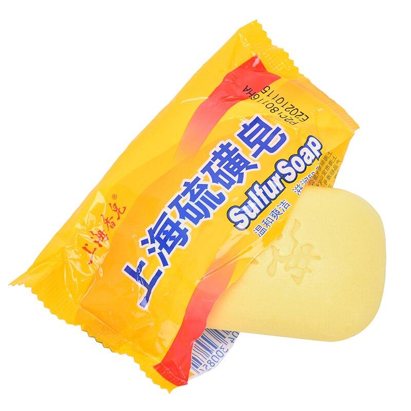 Отбеливание Очищающее средство Китайское Традиционное Кожа Уход Сера Мыло Контроль жирности Акне Лечение Угри Средство для удаления Мыло