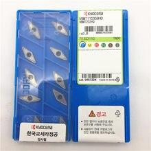 YZ 10pcs (1 pack) Pastilhas de Cermet VBMT110308-HQ TN60 VBMT222HQ Original Novo