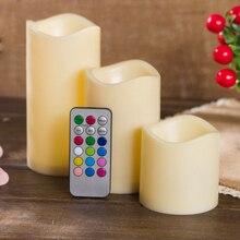 Votive креативный мерцающий 18 ключ дистанционного управления лучший подарок малые беспламенные светодиодные лампы свечи лампа романтическая батарея украшение дома