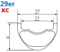 Karbon Mtb koła 29er 27mm 24mm szerokość Xc rower górski węgla koła Novatec D411/D412 prosto ciągnąć piasty rower Mtb koła