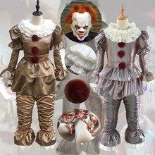 Disfraz de payaso para adulto, disfraz de Pennywise de It de Stephen King, Joker escalofriante, traje de disfraz de payaso malvado para fiesta de Halloween, Terror