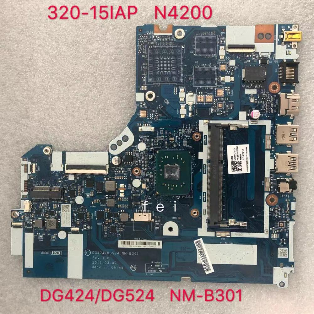 for Lenovo Ideapad 320-15IAP Laptop Motherboard NM-B301 SR2Z5 N4200 CPU 100% test ok
